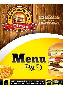 Menu Hamburguesas Mi Tierra (Agosto. 2013)