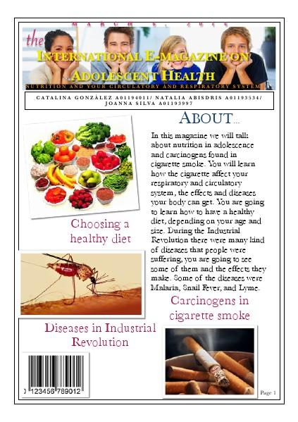 International E-Magazine on adolescent health Circulatory and Respiratory System