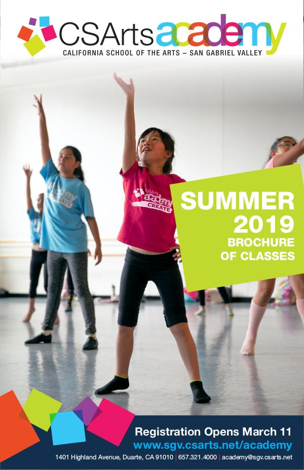 CSArts Academy at CSArts-SGV Summer 2019