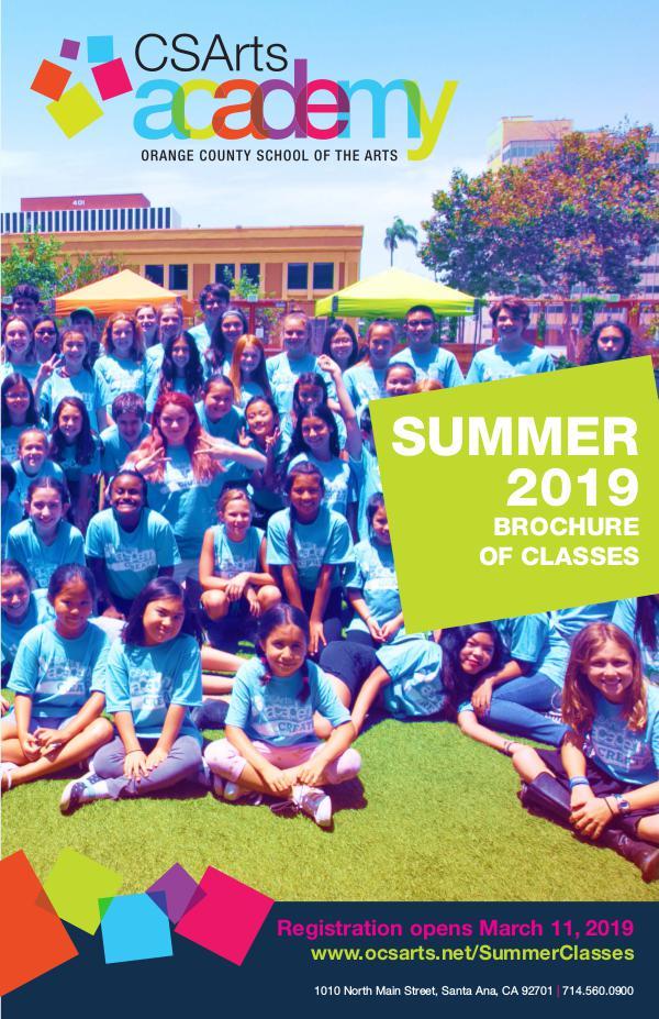 CSArts Academy at OCSA Summer 2019