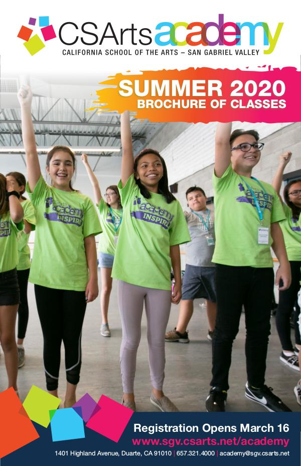 CSArts Academy at CSArts-SGV Summer 2020