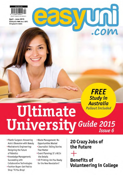 EASYUNI Ultimate University Guide 2013 Issue 6