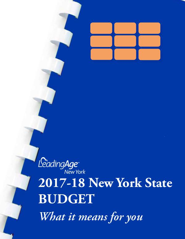 LeadingAge New York State Budget Review April 2017