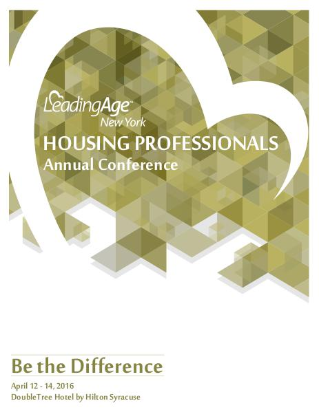 2016 Housing Conference for LeadingAge New York April 12-14, 2016