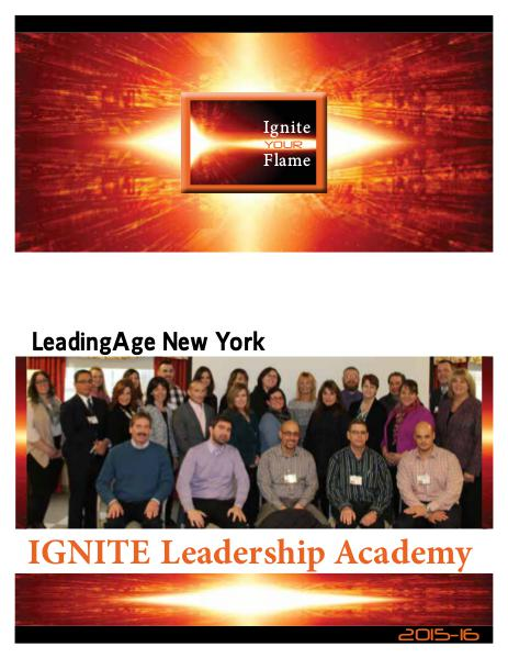 IGNITE Leadership Academy LeadingAge New York 2014-15 2015-16