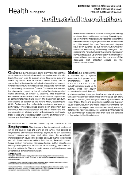 2nd Partial Magazine Industralization Health problems