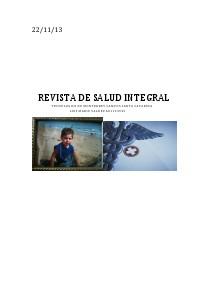 REVISTA DE SALUD INTEGRAL diciembre 2013