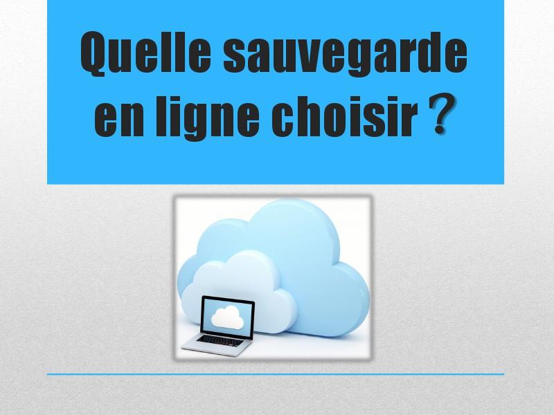 Présentation de la sauvegarde en ligne et de Mozy Quelle sauvegarde en ligne choisir ?