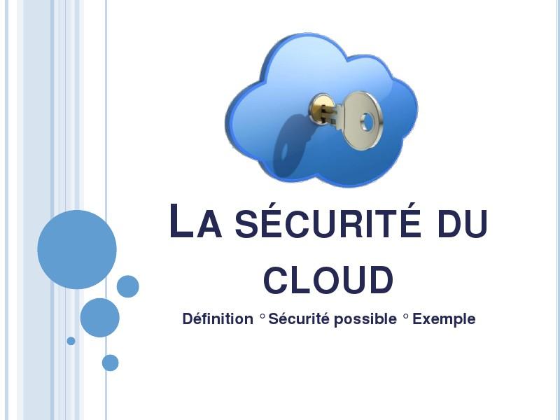 La sécurité du Cloud (13.06.14)