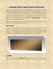 Vermiculite Panels: A Smart Choice for Homeowners