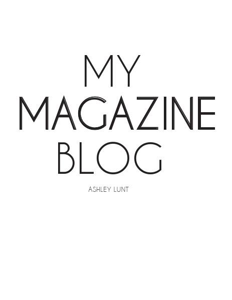 Blog Ashley Lunt Blog Issue 1