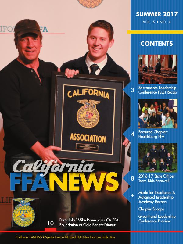 California FFA News Summer 2017