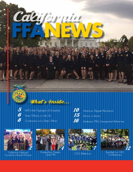 California FFA News Winter 2014