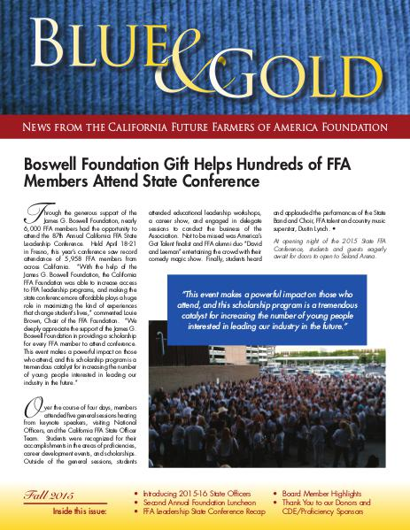California FFA Foundation Blue & Gold 2015