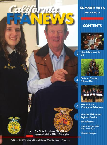 California FFA News Summer 2016
