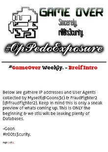 #r00ts3curity | Weekly Data & Pedo Leak | #OpPedoExposure #OpPedoFEAR