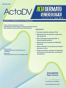 Acta Dermato-Venereologica 2018, No. 6
