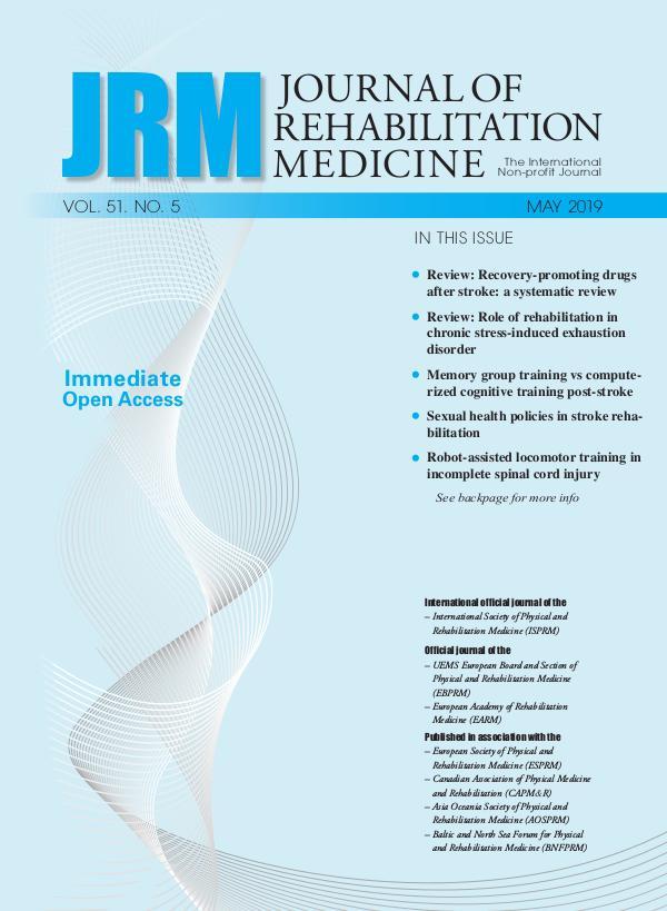 Journal of Rehabilitation Medicine 51-5