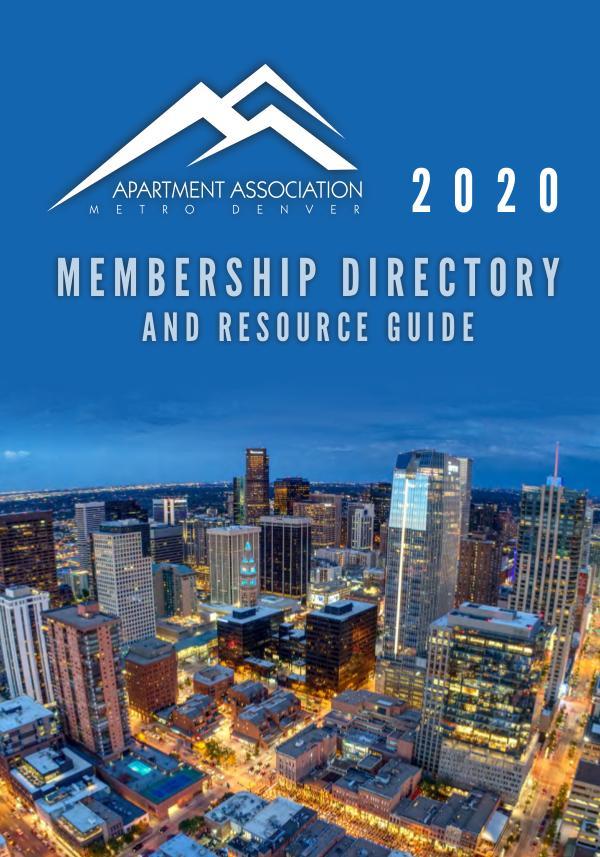 2020 Membership Directory and Resource Guide 2020 Membership Directory