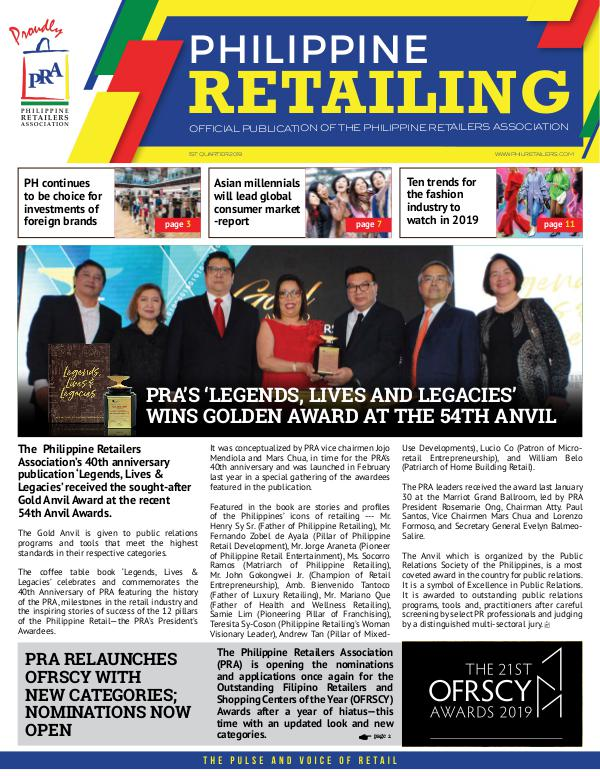 Philippine Retailing 2019 Q1