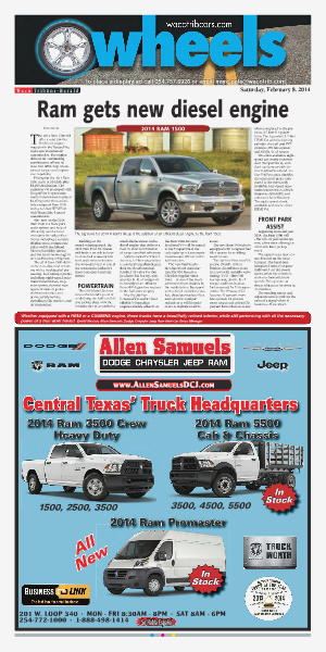 Weekly automotive section from the Waco Tribune-Herald. feb.2014