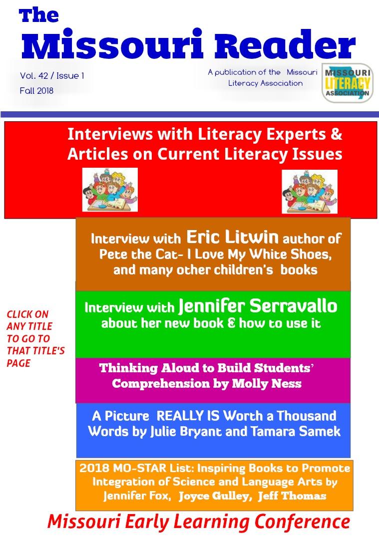 The Missouri Reader Vol. 42, Issue 1