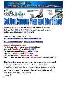 GET OUR FAMOUS YEAR END ALERT HERE!