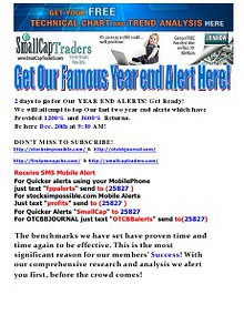 Get Our Famous Year End Alert Here!!