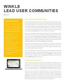 Winkle Lead User Community