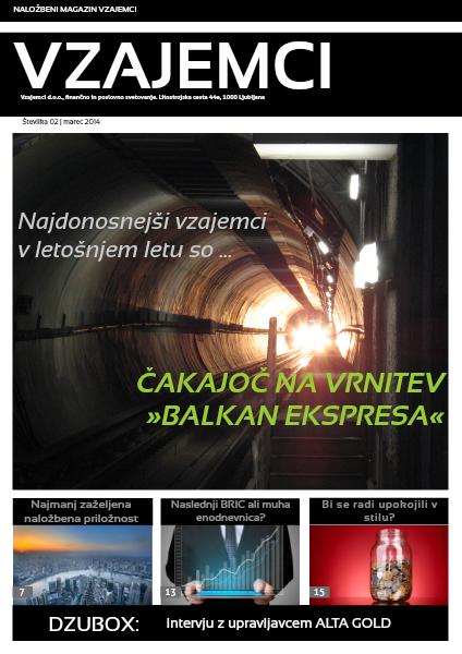 Naložbeni magazin Vzajemci - marec 2014