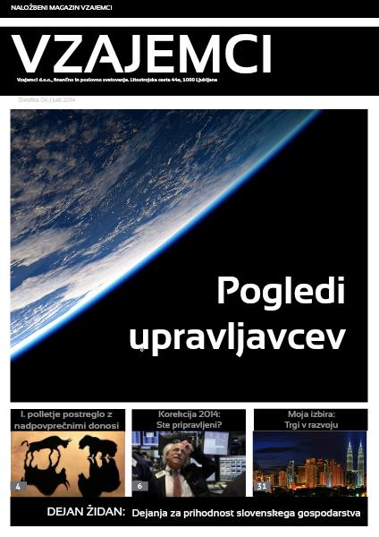 Naložbeni magazin Vzajemci julij 2014