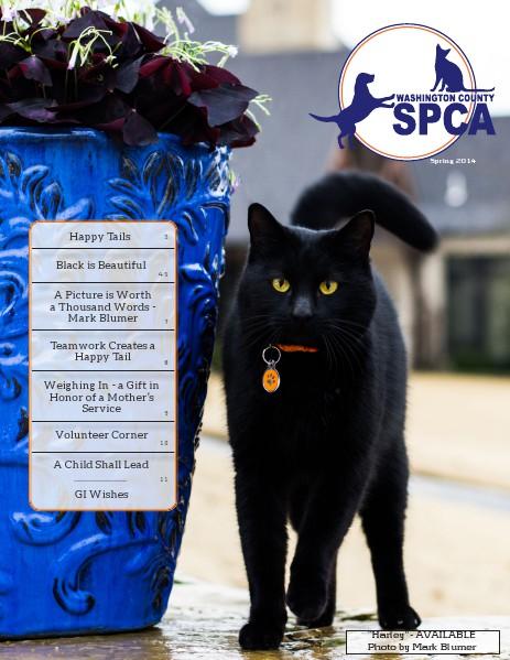 Washington County SPCA Newsletter SPRING 2014