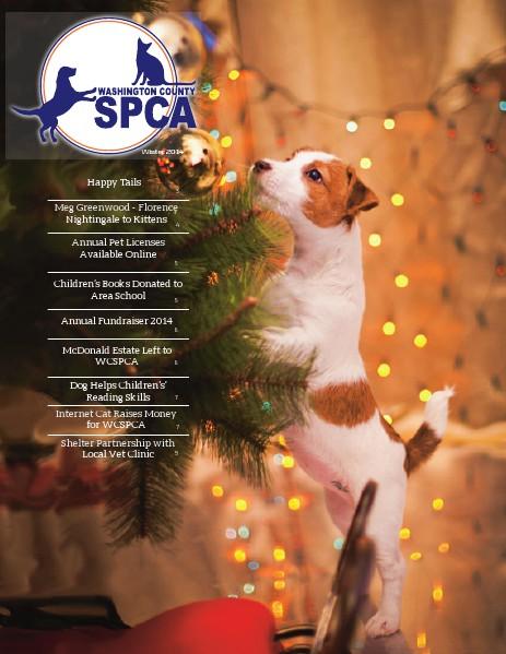 Washington County SPCA Newsletter WINTER 2014