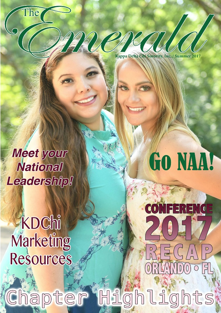 The Emerald Newsletter | Kappa Delta Chi Sorority Summer 2017