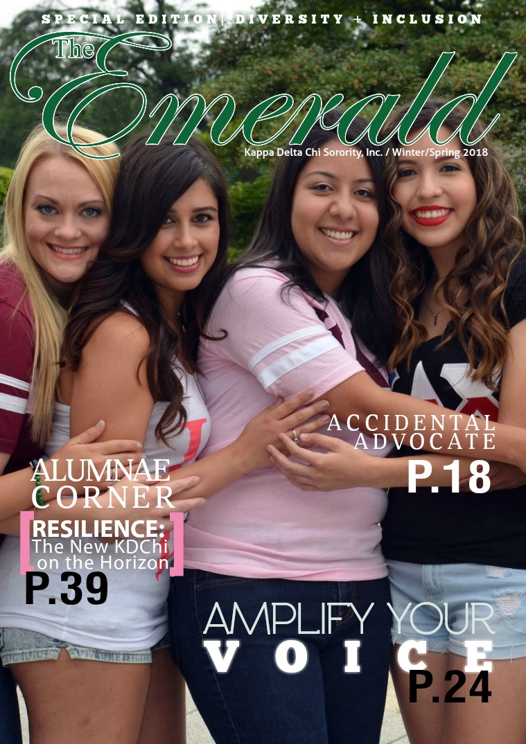 The Emerald Newsletter | Kappa Delta Chi Sorority Spring 2018