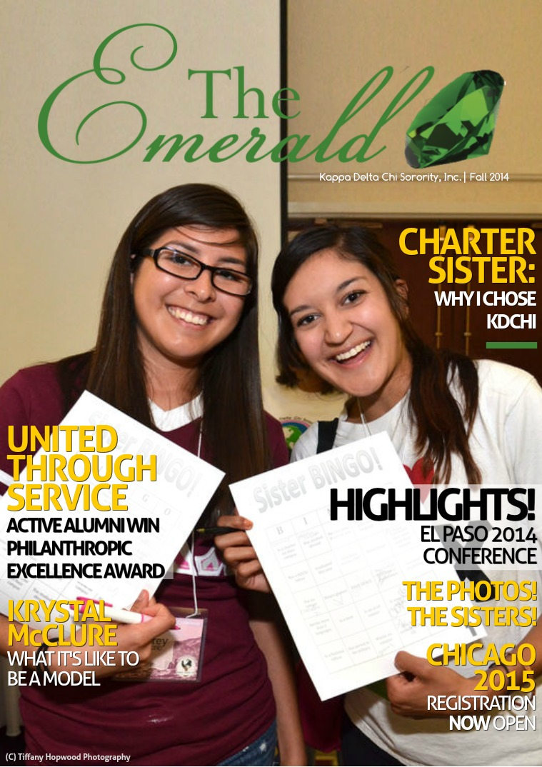 The Emerald Newsletter | Kappa Delta Chi Sorority Kappa Delta Chi Sorority, Inc. | Fall 2014