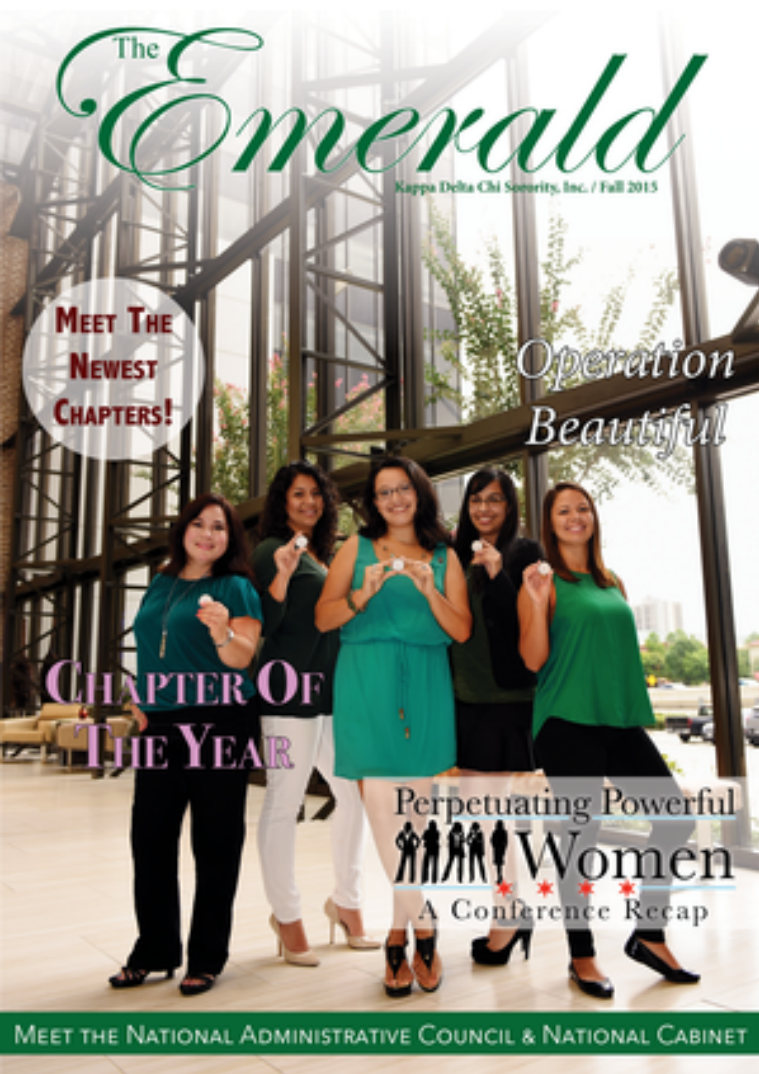 The Emerald Newsletter | Kappa Delta Chi Sorority Fall 2015