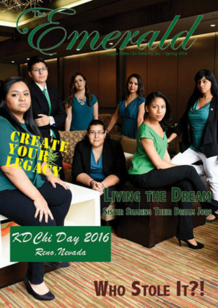 The Emerald Newsletter | Kappa Delta Chi Sorority Spring 2016