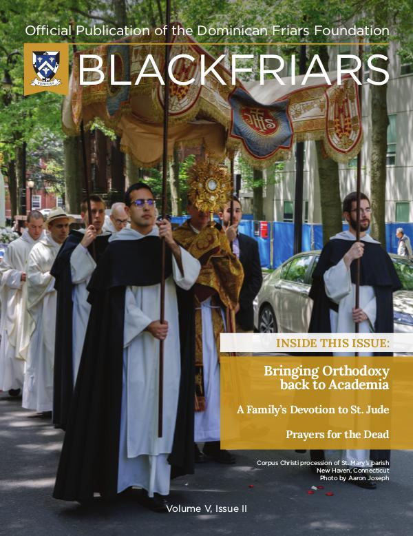 BlackFriars Volume V, Issue II