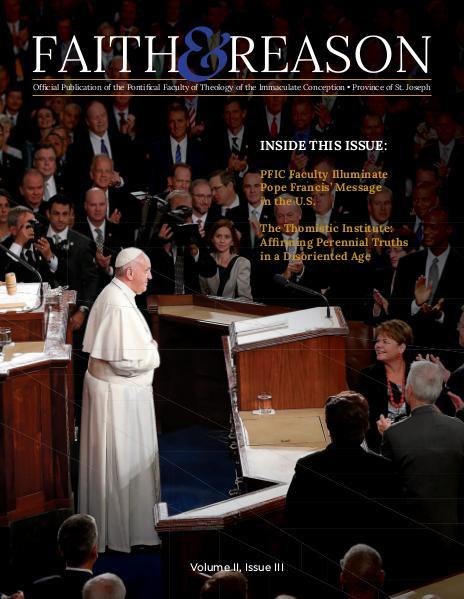 Faith & Reason Volume II, Issue III