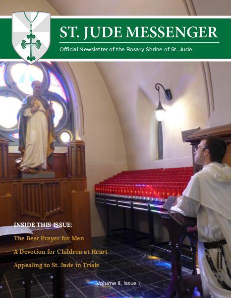 St. Jude Messenger Volume II, Issue I