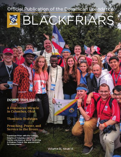 BlackFriars Volume III, Issue III
