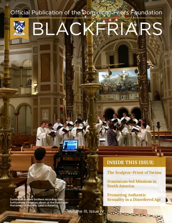 BlackFriars Volume III, Issue IV