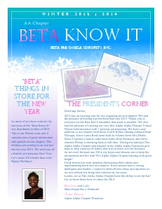 Beta Know It Volume 2 | Issue 2  ~  Winter 2013 | 2014
